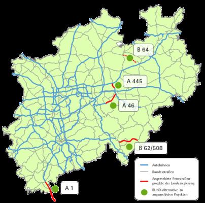 autobahn nrw karte Zukunftsfähige Mobilität in NRW autobahn nrw karte
