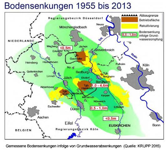 Geologische Karte Ruhrgebiet.Bergschaden Durch Braunkohle Bund Nrw